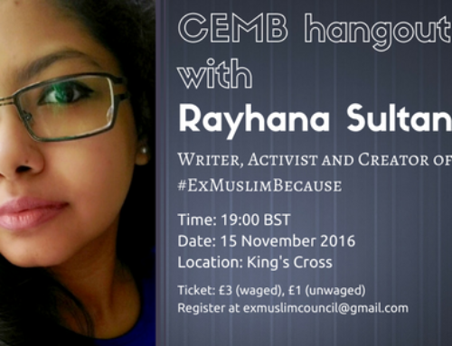 15 November 2016, hang-out with Rayhana Sultan on #ExMuslimBecause Anniversary